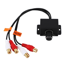 Universal Car Amplifier Bass Remote Volume Control Potentiometer Rca Input and Output 2Rca Car Potentiometer