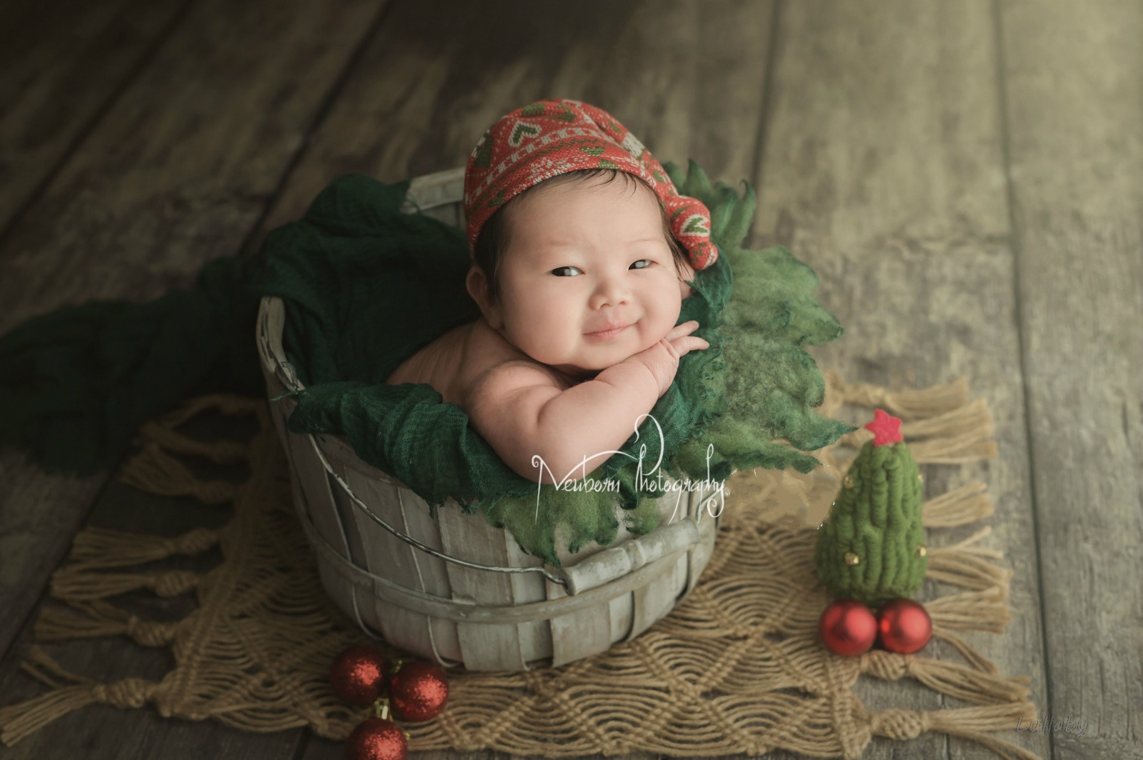 Baby Photography Props Wooden Posing Container Wooden Bucket Newborn Baby Shoot Accessories Studio Creative Retro Posing Props