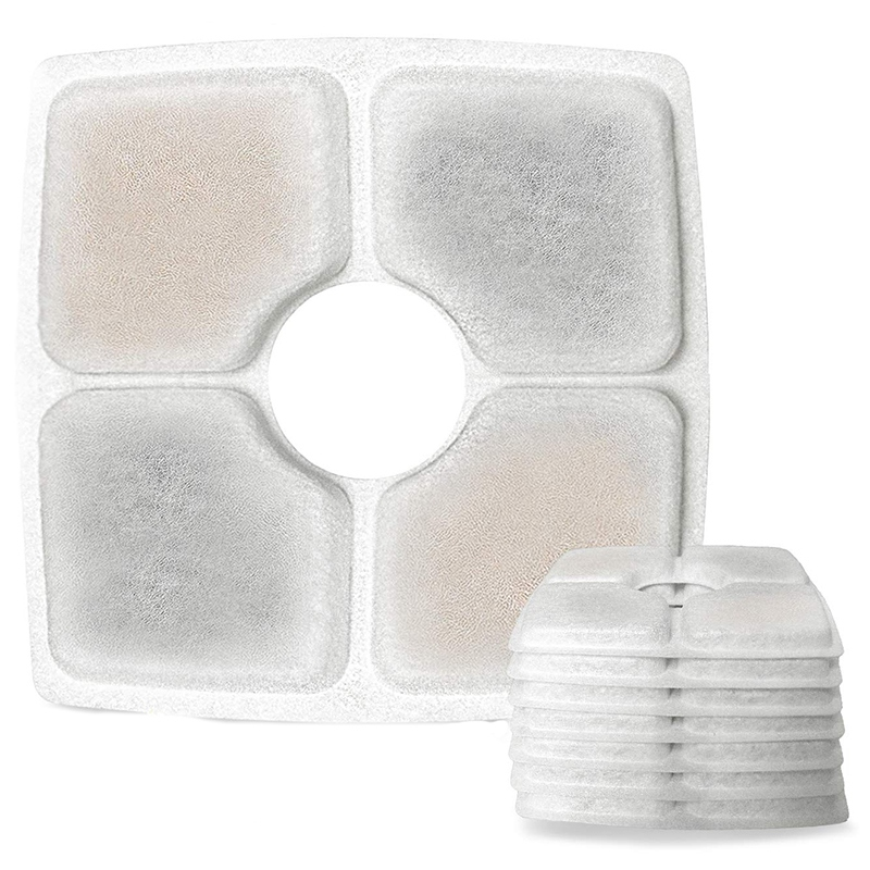 Square Filters for Cat Fountain 8 Pack Cat Fountain Filters Suitable for 2 5L font b