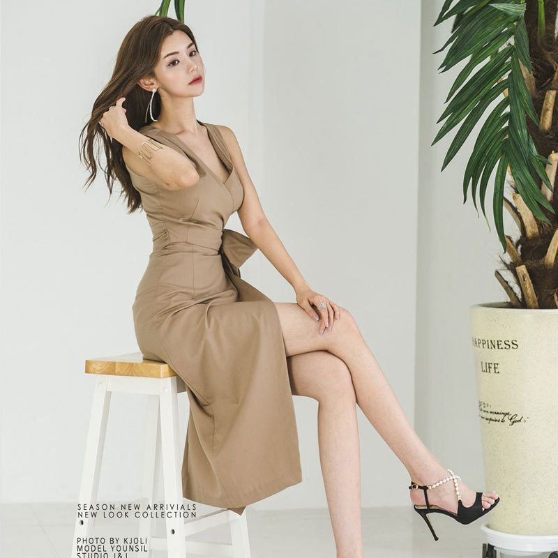 2020 Temperament Self-cultivation Chalaza Long Dress fashion woman clothes Tide