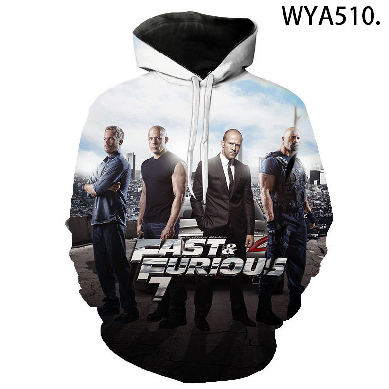 2020 New Aikooki Fast & Furious 3D Hoodies Men Women Children Cool Sweatshirts Fashion Pullover Boy Girl Hoody Streetwear Tops