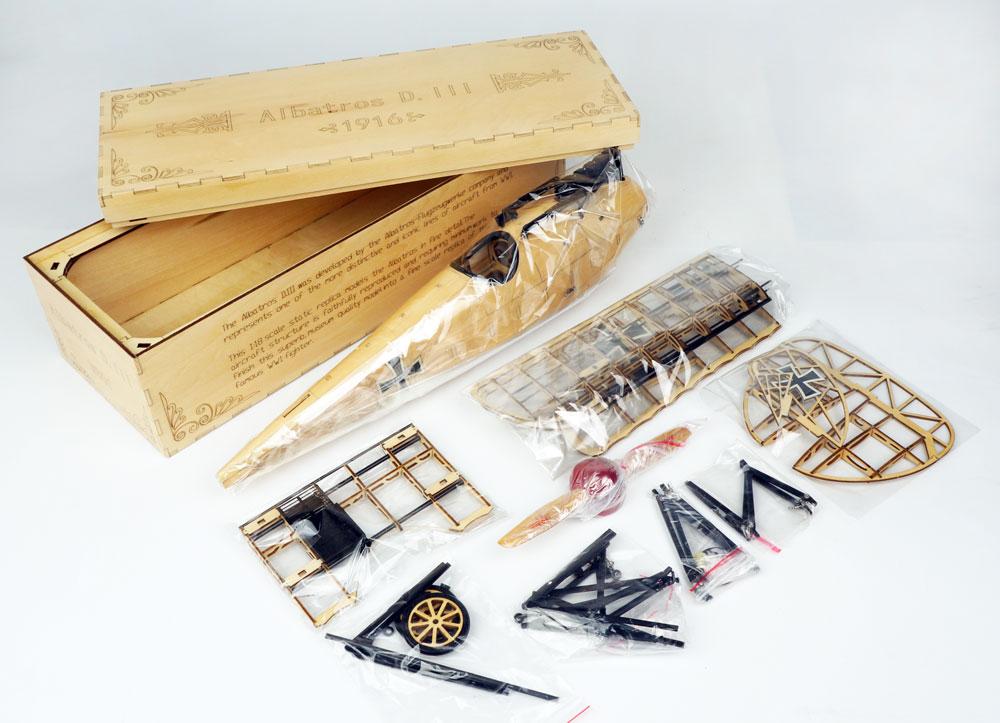 Купить с кэшбэком Building Toys, DIY Wood,Christmas Toys, Wooden Toys,rcStatic Model,Albatros D.III 1:18 Scale Display Replica, Balsawood Airplane