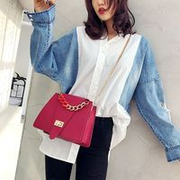 Women Shoulder Messenger Bags Chain Strap PU Leather Joker Roomy Casual Style Delicate Hardware Ladies Handbag 5 Optional Colors
