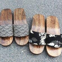Men Kimono Geta Clogs Japanese Style Yukata Slippers Chinese Wooden Shoes Beach Flip Flops Kamado Nezuko Anime Cosplay Sandals