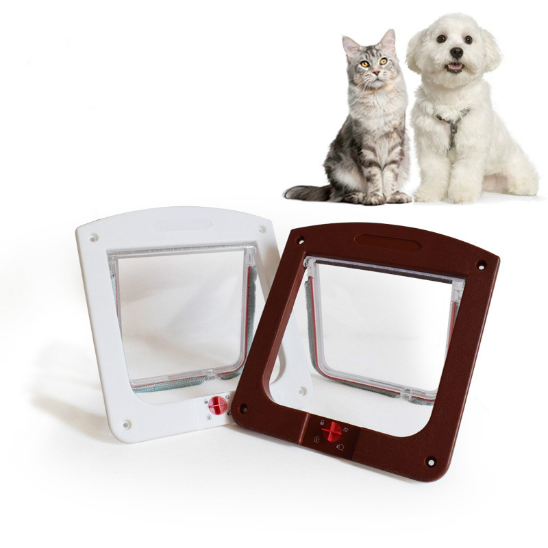 24.4cmx20.3cmx3cm Pet Entry And Exit Cat Door Cat Hole Glass Door  Puppy Dog Door Pet Door Dog Gate Pet Fence