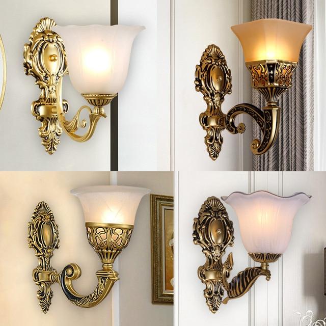 الأوروبي خمر الجدار مصباح الرجعية وحدة إضاءة LED جداريّة ضوء غرفة المعيشة المنزل E27 الشمعدان مصابيح المعادن بار الممر الإضاءة ديكور داخلي