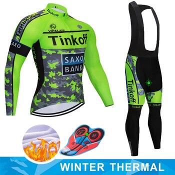 2019 Saxo bank Tinkoff invierno térmico polar Ciclismo Jersey Ropa de Ciclismo...