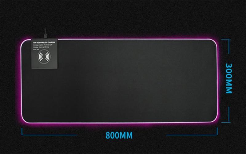 almofada gaming mousepad carregamento sem fio grande