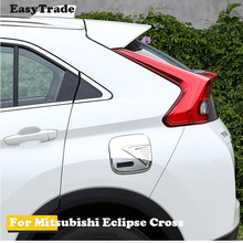 For Mitsubishi Eclipse Cross Car body Styling Oil gas tank Cover Cap sticker ABS carbon fiber decorative paste accessories