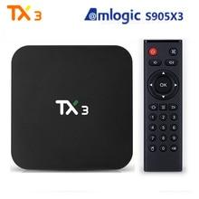 TX3 Smart Tv Box Android 9.0 Amlogic S905X3 4GB 32GB 8k Youtube Media Player 2.4G 5G Wifi 100M LAN USB 3.0 BT4.0 Smart Tv Box