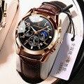 POEDAGAR 2021 мужские часы Новая мода Водонепроницаемый светящаяся кожа Топ Роскошные Брендовые мужские кварцевые наручные часы Relogio Masculino