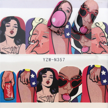 цена на Nail Stickers Water Decals Character Nail Sticker Water Decals Transfer Nail Art Decoration Mix Designs Tips