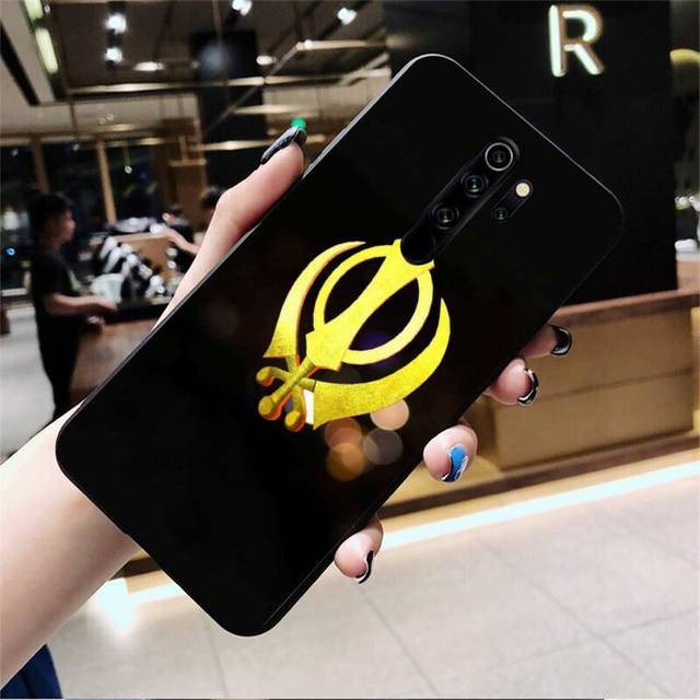 Sikh Khanda Sikhism Coque Shell Phone Case for Redmi Note 8 8A 8T 7 6 6A 5 5A 4 4X 4A Go Pro