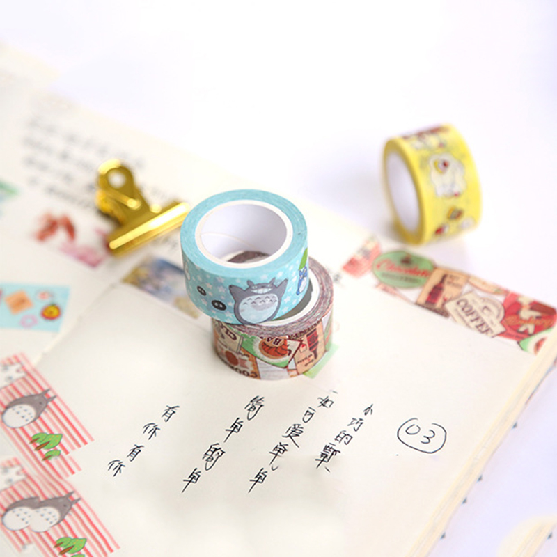 20mm Cute Washi Tape Japanese Totoro Rilakkuma Decorative Tape Flowers Sumikko Gurashi Scrapbooking Kawaii Grid Adhesive Tape 2