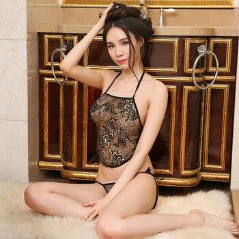 중국어 섹시 란제리 세트 공작 자수 Stomachers 이국적인 란제리 끈 팬티 여성 Bellyband 잠옷과 전통 속옷