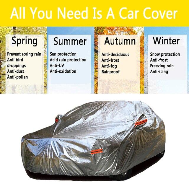 Protection contre les UV et le soleil | Bâches de voiture étanches en Aluminium, protection contre les poussières et la pluie, protection complète pour suv et berline