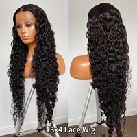 360 Lace Frontal Wig 28 30 Inch Water Wave 13x4 Lace Front Wig Human Hair Wigs Deep Curly Glueless Virgin Brazilian 180% Density 2