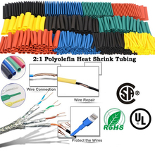164pcs Heat shrink tube Insulation Sleeving termoretractil Polyolefin Shrinking Assorted set 2:1 Shrink Tubing Wire Cable