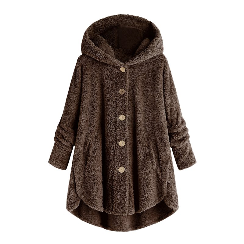 Sisjuly Shirt Pockets Solid-Color-Jacket Fashion Coat Velvet Female New Warm Thick