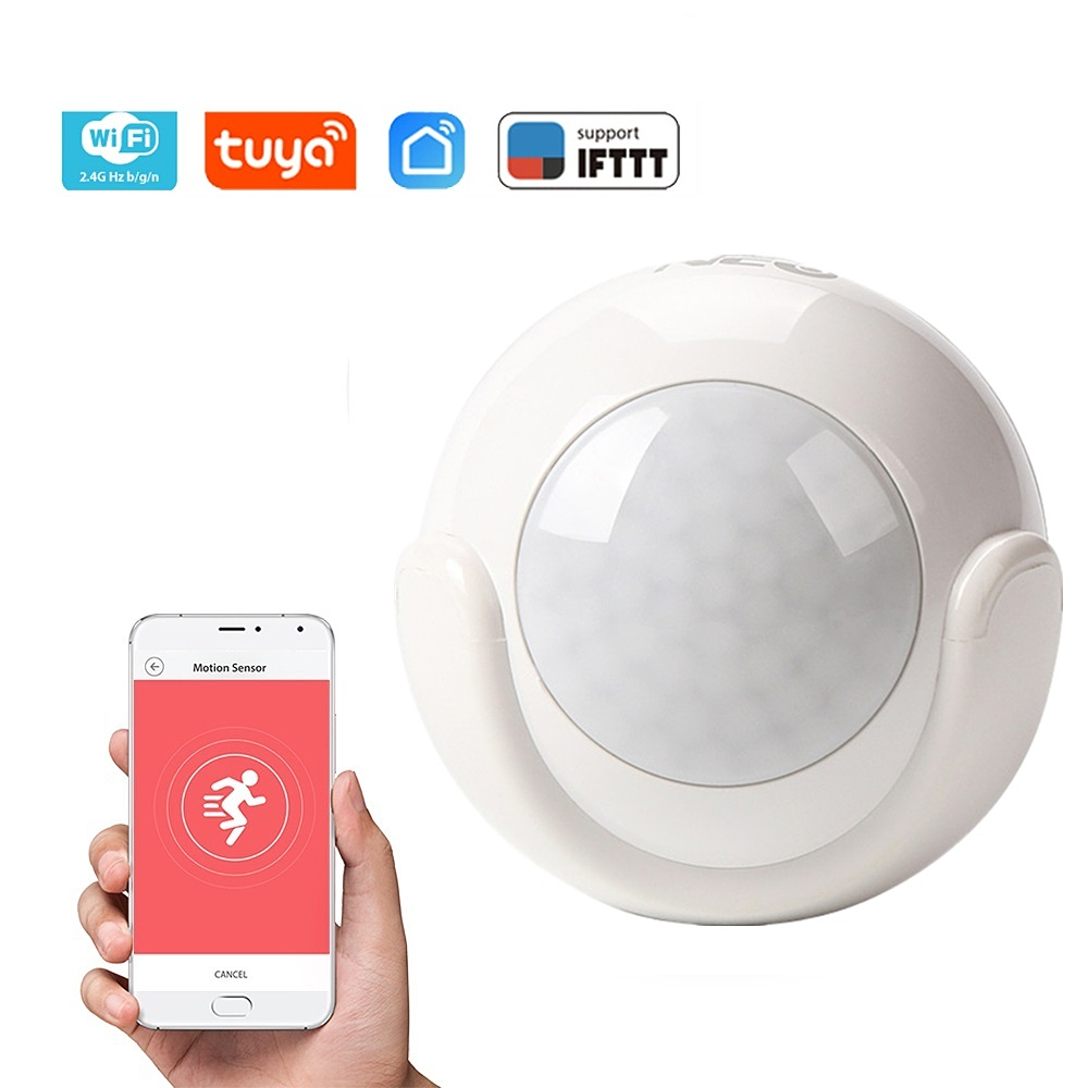 Smart Home Wireless WiFi Tuya PIR Motion Sensor Infrared Detector Home Alarm System Work With IFTTT