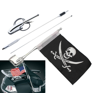 Motorcycle Antenna Kit Audio Comfort Navi+flag for Honda 2006 - 2016 2007 2008 2009 GL1800 Goldwing GL 1800 2001 - 2005 Gl1500