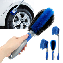 Ferramenta de lavagem de carro multi funcional com 3 tamanhos escova de roda de carro escova de limpeza de pneus de lavagem de carro escova de poeira de carro