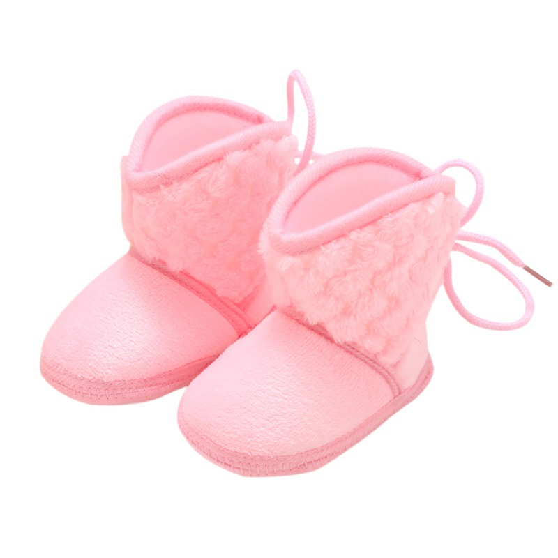 Newborn Soft Soled Baby Warm Shoes Anti-slip Boots Booties Baby Boots Girl Boy Kids Solid Fringe Shoes For 0-18 Months