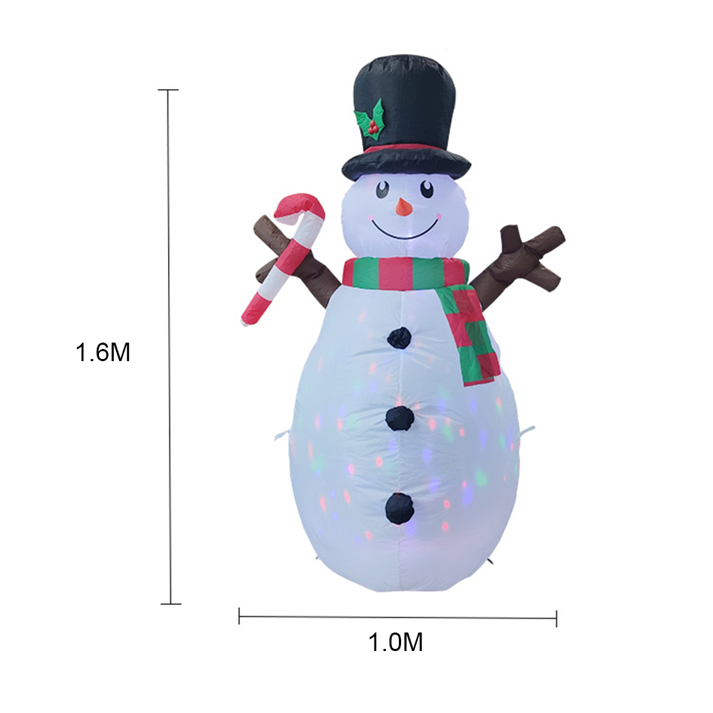 160cm Christmas Decorations Upgraded Snowman Inflatable Props Inflatable Toy Indoor Outdoor Yard Garden Decorations-5