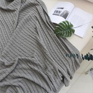 Image 4 - 솔리드 컬러 담요 침대 커버 소프트 던지기 담요 침대보 침구 니트 담요 에어 컨디셔닝 편안한 잠자는 침대 커버