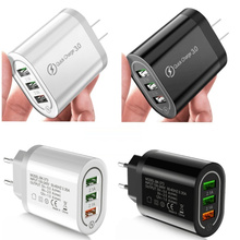 Fast Quick Charging 3 usb Ports Eu US Wall Charger 5V 4.8A 18 W Power Adapter For Ipad IPhone 7 8 X XR Samsung Android phone PC