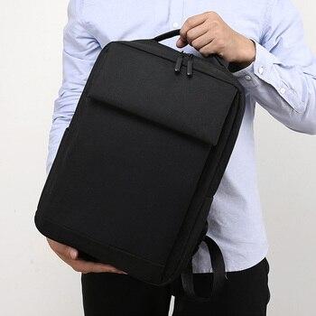 Mochilas de negocios con carga USB clásica para hombres adolescentes, bolsa antirrobo...