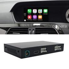 Para a classe C W204 Carplay caixa de interface decodificador sem fio unidade de cabeça de rádio comand NTG4.5 facelift 4.7 sistema de atualização de tela de fábrica
