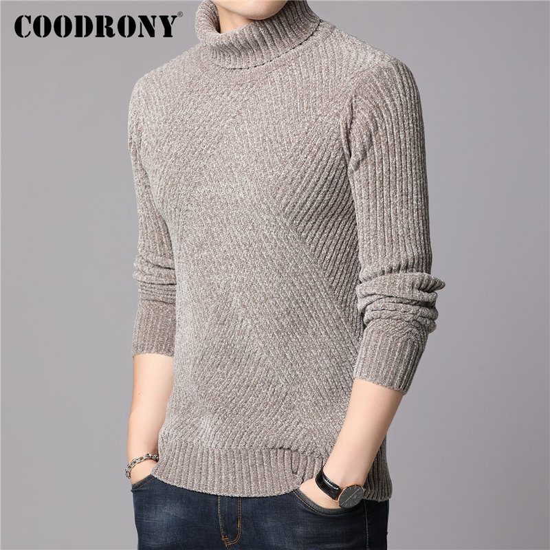 Fashion Winter Cotton Knitted Cardigan Mens Casual Thick Warm Sweater
