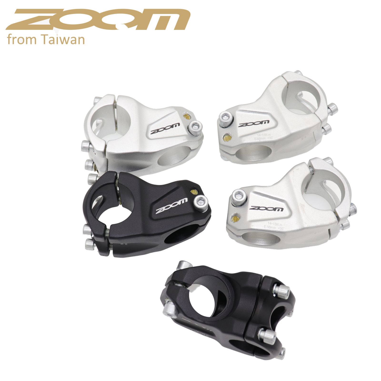 Zoom bike stem 30 degree downhill cross-country DH FR XC BMX mountain bike MTB bicycle handlebar 31.8 50MM