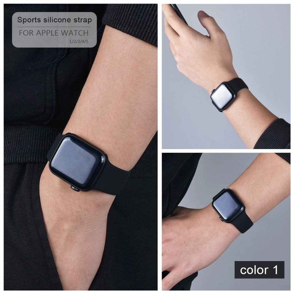 Soft Silicone Band for Apple Watch 85