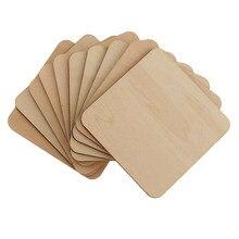 正方形 MDF 空白プラーク木製ピース装飾モデルビルディング DIY 工芸品