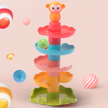 Montessori Baby Rolling Ball Game Toys For Toddler 0 12 Months Educational Games Child 2 Years Puzzle Rattle Spin Track Boy Gift