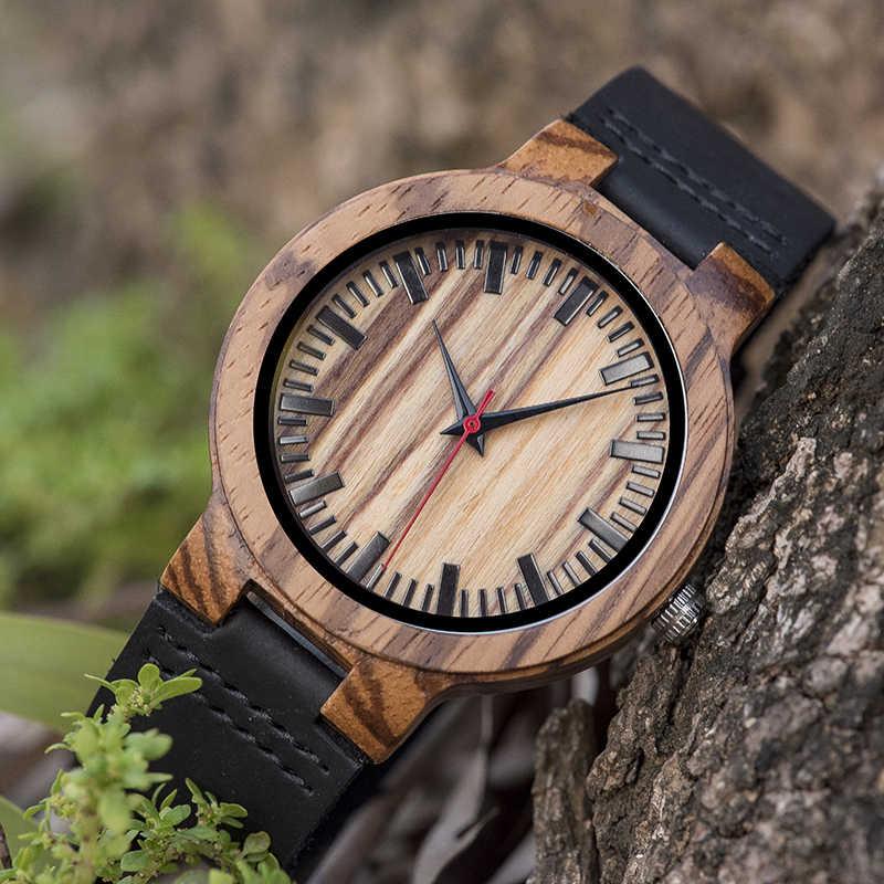 Relogio Masculino WOODme Promotion montre bois artisanat anniversaire cadeau à lui personnalisé cadeaux de noël en boîte montre-bracelet en cuir