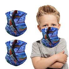 Scarf Face-Mask Protectio-Neck Windproof Print Children Sagace Sunscreen Selling
