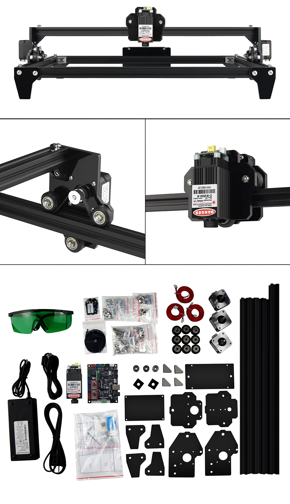 2-Axis 2500mW Laser Engraving Machine/Desktop Wood Router/Cutter/Printer