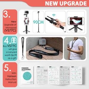 Image 3 - Vamson para gopro acessórios conjunto para go pro herói 9 8 7 6 5 4 kit 3 vias selfie vara para eken h8r/para yi eva caso vs77