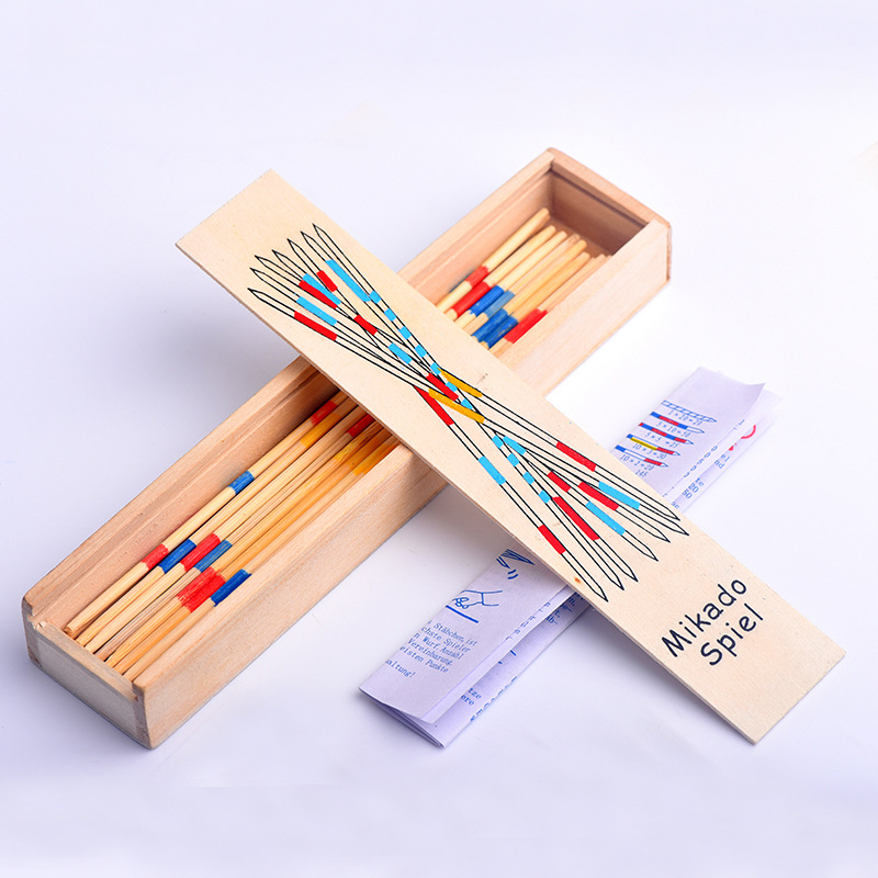 Spillikin Game Stick Baby Educational Wooden Traditional Mikado Spiel Pick Up Sticks With Box Game Souptoys