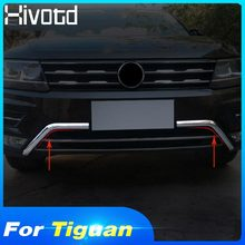 Hivotd For VW Tiguan MK2/L 2019 2018 Front Bar Trim Down Grille Bumper Protector Cover ABS Chrome Decorate Car-Styling Accessory цена и фото