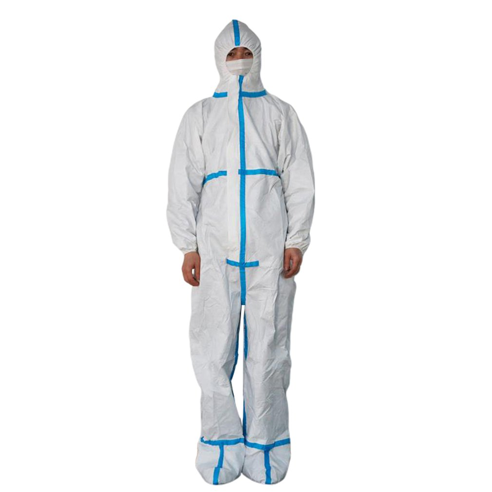 Safety Clothes -workwear Disposable Anti-static Dustproof Work Suit Protective Clothing Isolation In Stock