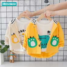 Medoboo Baby Coat Girl Boy Spring Autumn Shelter Jacket Undershirts Dinosaur Newborn Parka Child