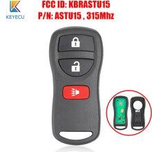 Keyecu keyless entrada de controle remoto chave do carro fob 3 botões para nissan murano xterra titan para infiniti fx35 fx45 qx4 kbrastu15