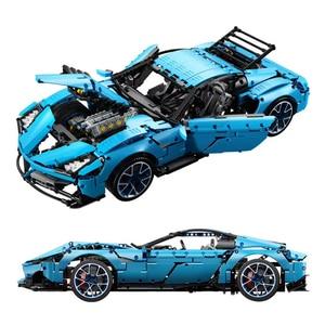В наличии на складе C61041 Lamborghinis, 100 лет, 1:8 hypercar, Super Racing Car Technic, модель для строительства, Подарочные игрушечные блоки