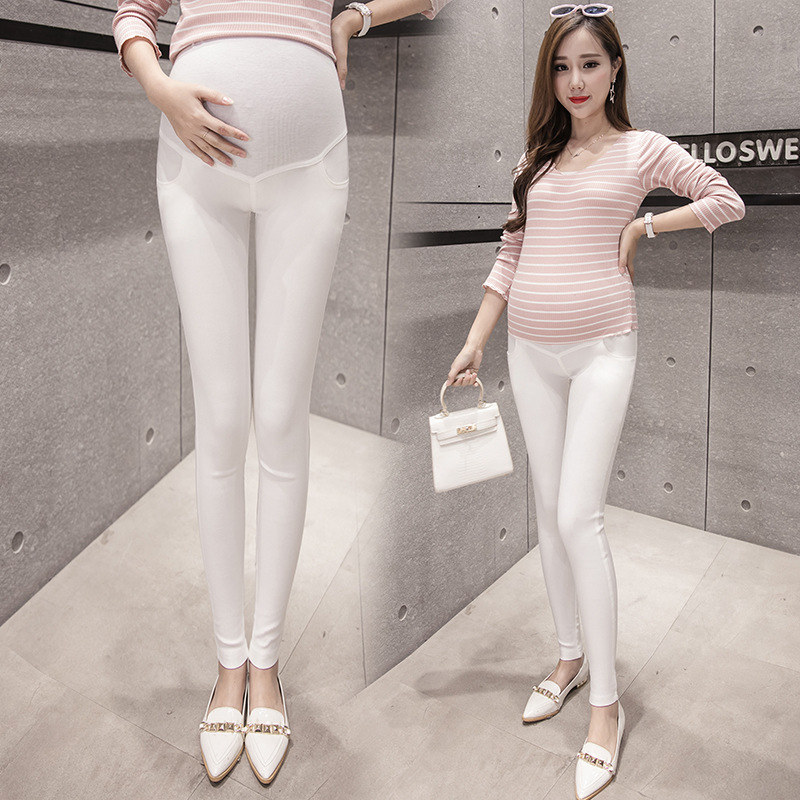 2019 New Style Photo Shoot Spring Pregnant Women Trousers Leggings For Pregnant Woman Skinny Pants Casual Pants Versitile Matern