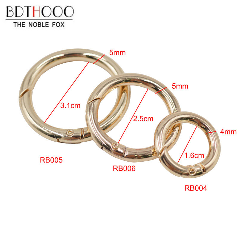 4pcs Inner Diameter 16mm/25mm Metal Opening Spring Coil Small Circle Ring Buckle Hardware Connection Clasp DIY Bag Accessories