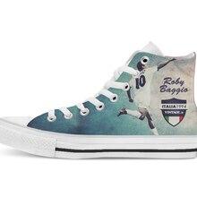 El jugador de fútbol de Italia, diseño Vintage, zapatos de lona de alta calidad, zapatos planos casuales, envío directo